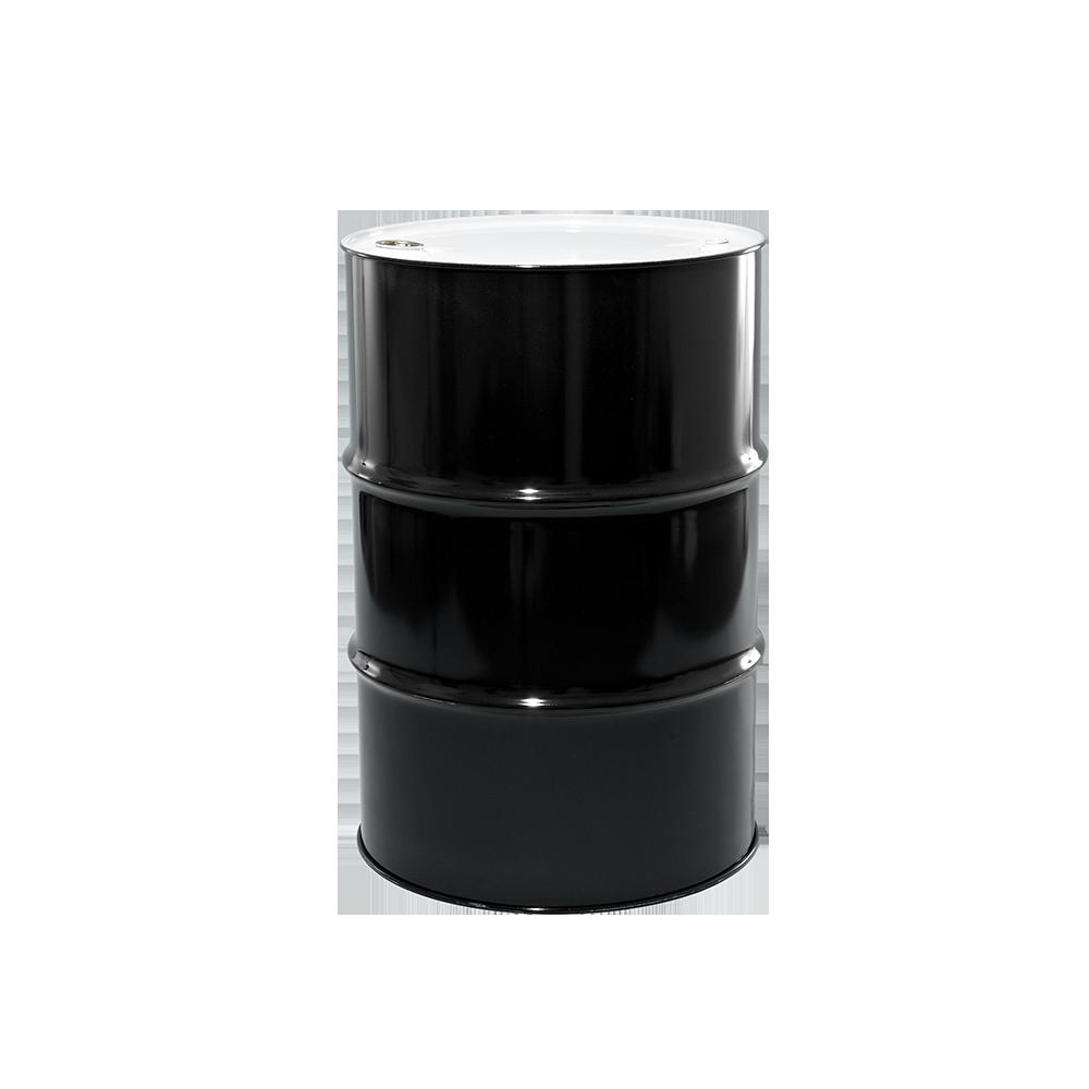 55 Gallon Black Tight Head Unlined Steel Drum