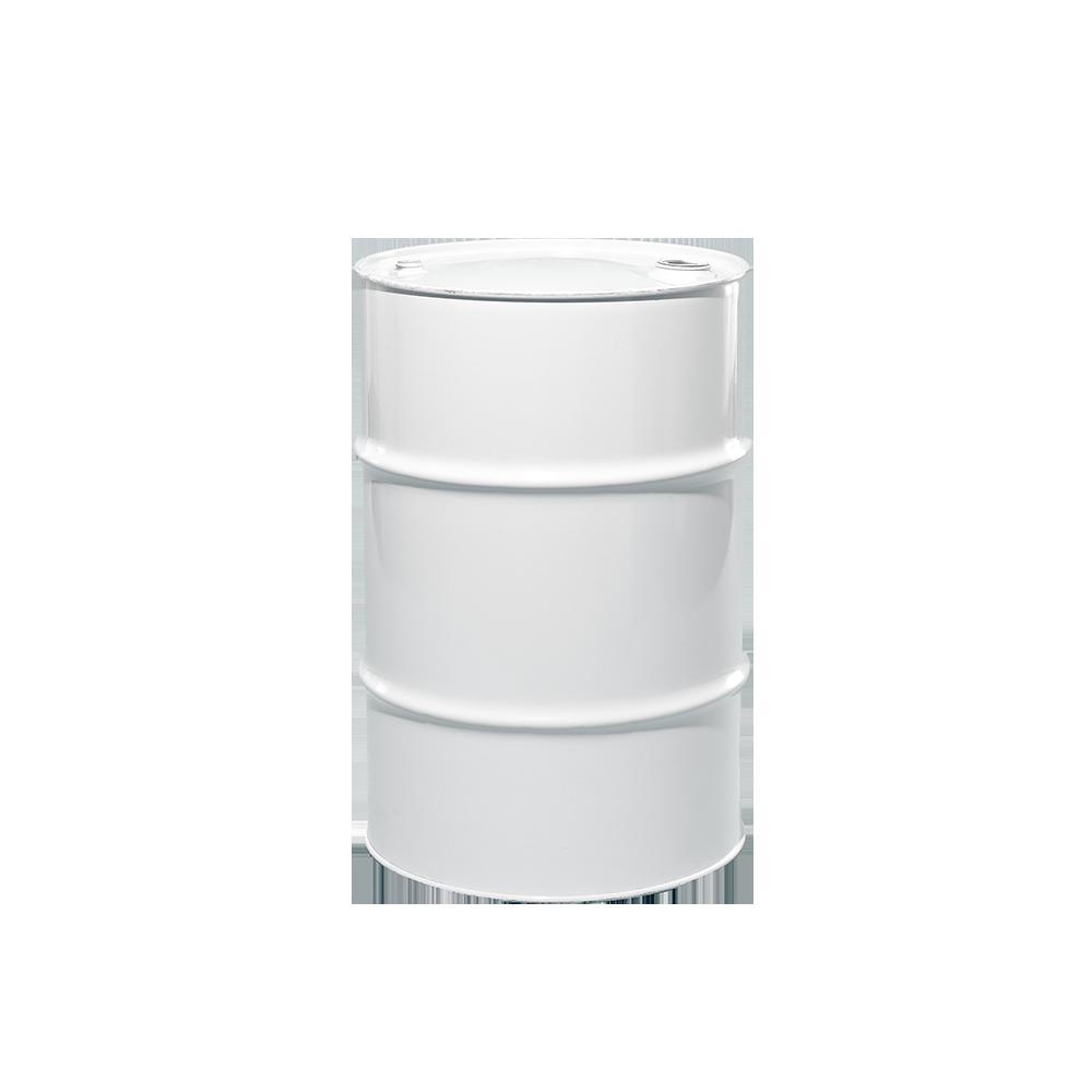30 Gallon White Tight Head Unlined Steel Drum|