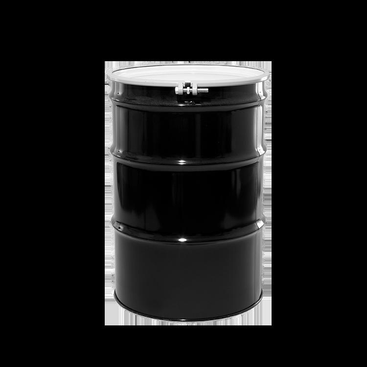 55 Gallon Black Open Head Unlined Steel Drum