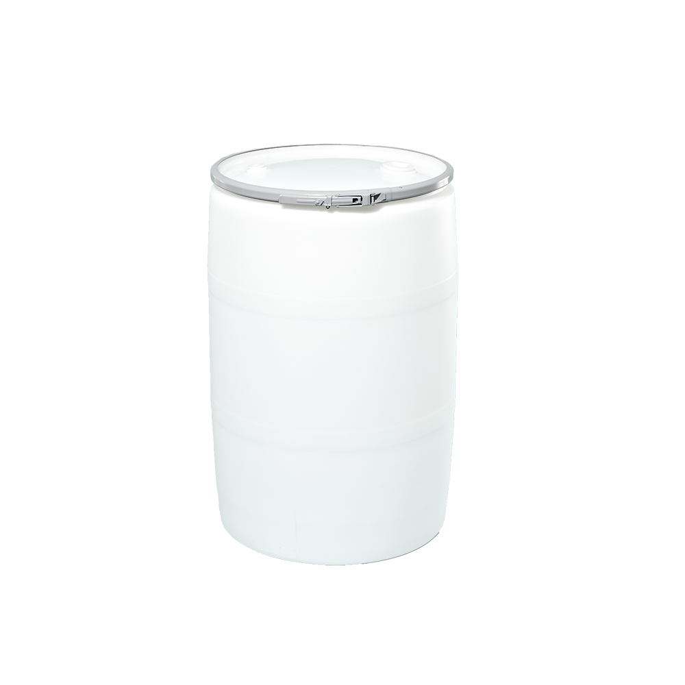 55 Gallon Natural Openhead Plastic Drum|