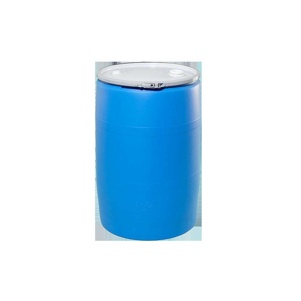 55 Gallon Blue Openhead Plastic Drum|