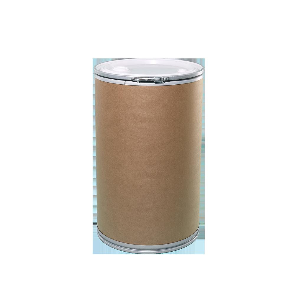 50 Gallon Openhead Liquid Fiber Drum w/Plastic Cover|