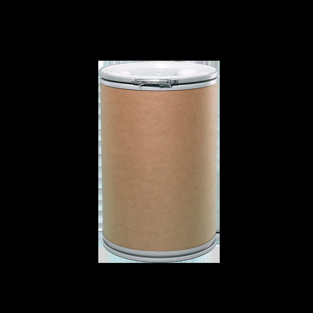 30 Gallon Openhead Liquid Fiber Drum w/Plastic Cover|