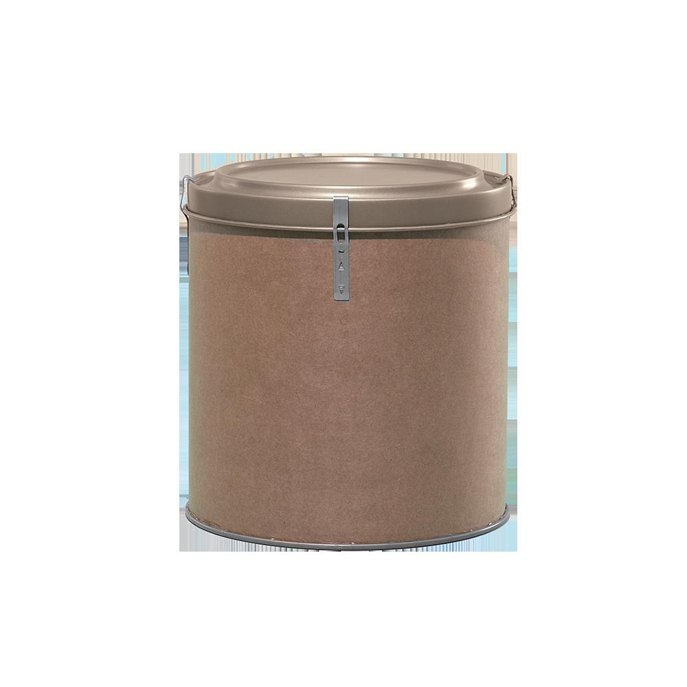 5 Gallon Openhead Dry Fiber Drum w/Metal Cover|