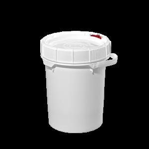 5 Gallon White HDPE Plastic Screw-Top Pail w/Plastic Handle (New)