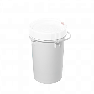 6.5 GALLON WHT HDPE SOLID SCREW TOP PAIL